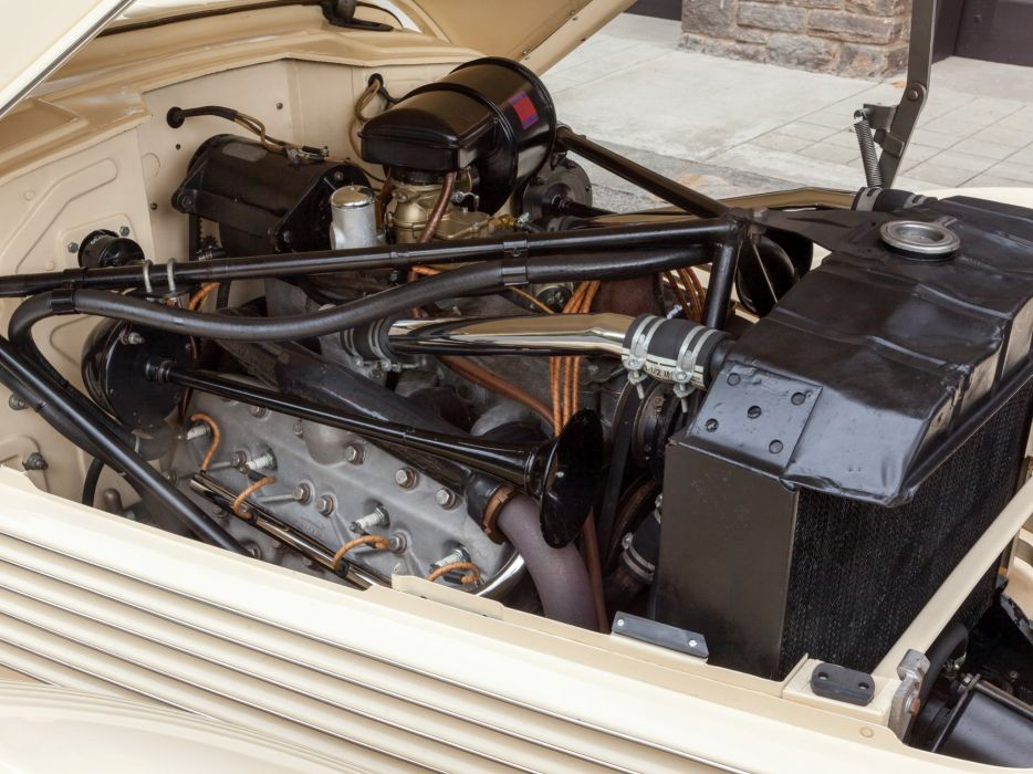 1937 Cord 812 Convertible Phaeton Sedan (C91-FB) retro luxury engine   g wallpaper