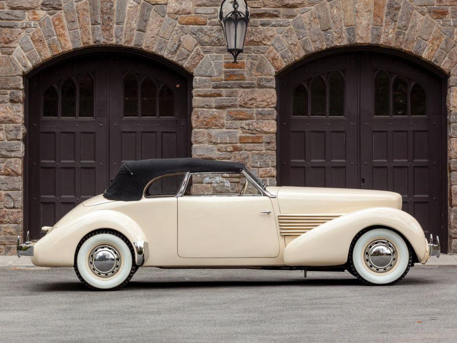 1937 Cord 812 Convertible Phaeton Sedan (C91-FB) retro luxury  g wallpaper