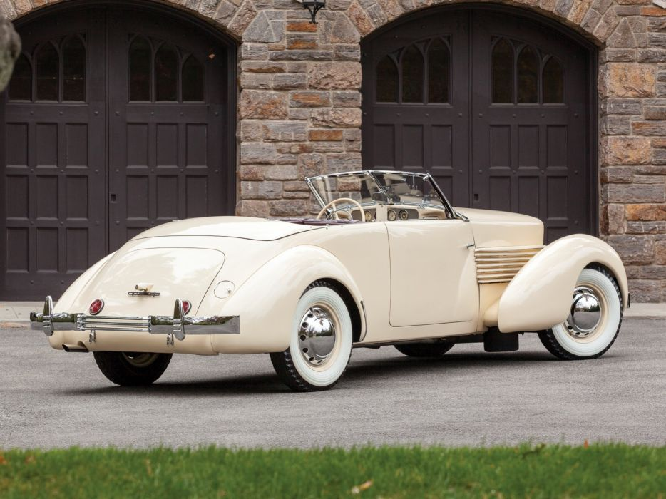 1937 Cord 812 Convertible Phaeton Sedan (C91-FB) retro luxury   g wallpaper