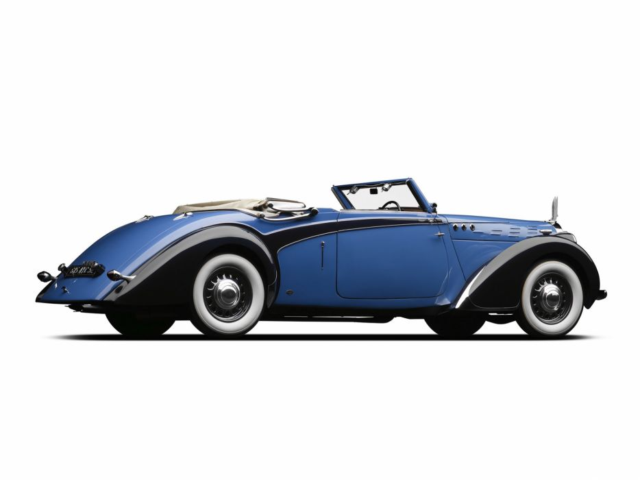 1938 Voisin C30 Cabriolet retro luxury convertible  f wallpaper