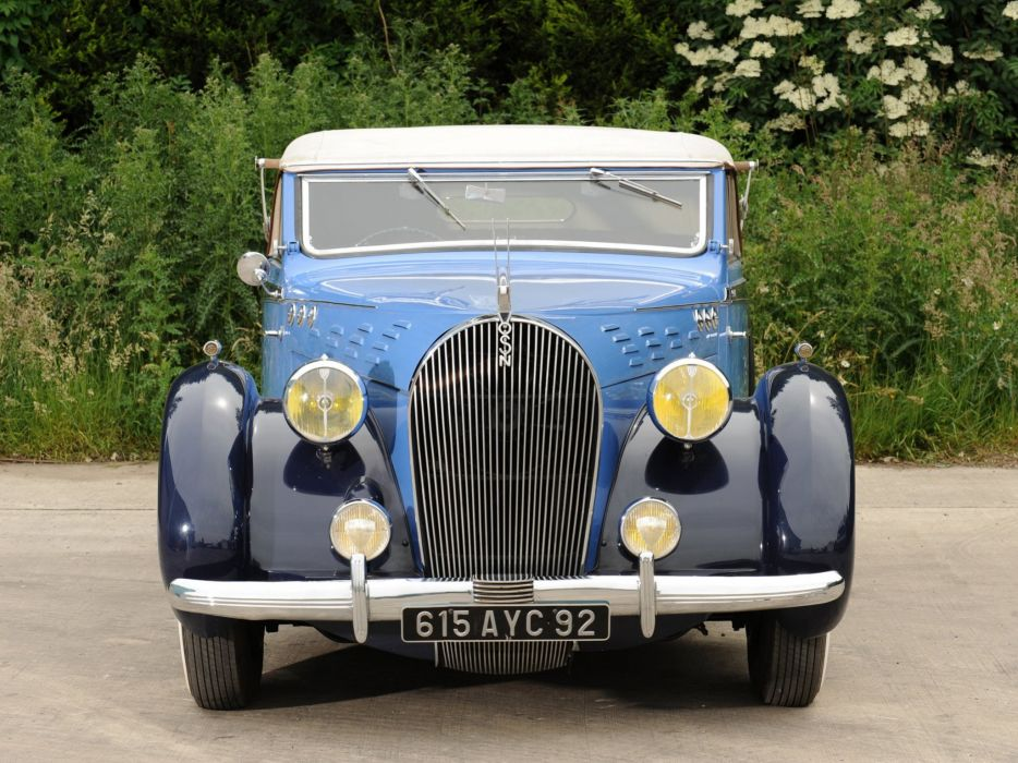1938 Voisin C30 Cabriolet retro luxury convertible   e wallpaper
