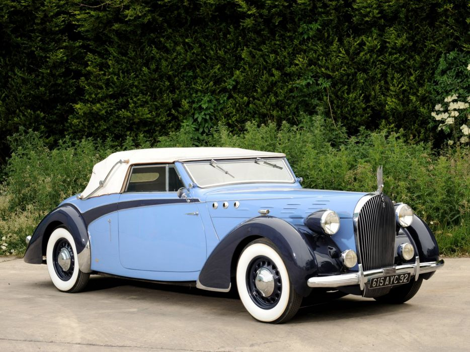 1938 Voisin C30 Cabriolet retro luxury convertible  r wallpaper