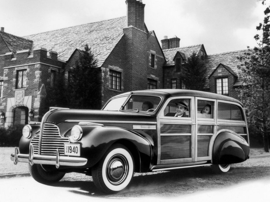 1940 Buick Super Estate Wagon (5-9) stationwagon woody retro     h wallpaper