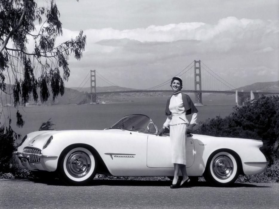 1953 Chevrolet Corvette Motorama Concept supercar muscle retro f wallpaper