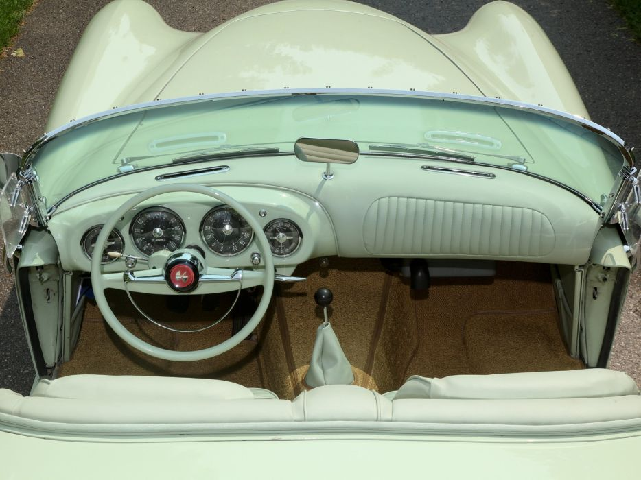 1954 Kaiser Darrin Sport Convertible (161) retro interior      g wallpaper