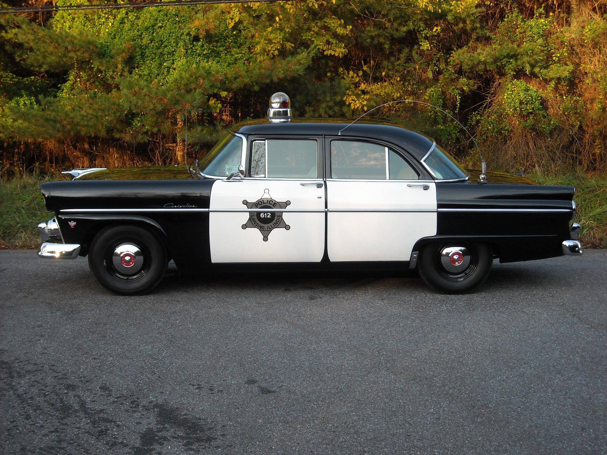 1955 ford customline 4 door sedan police 73b emergency for 1955 ford customline 4 door