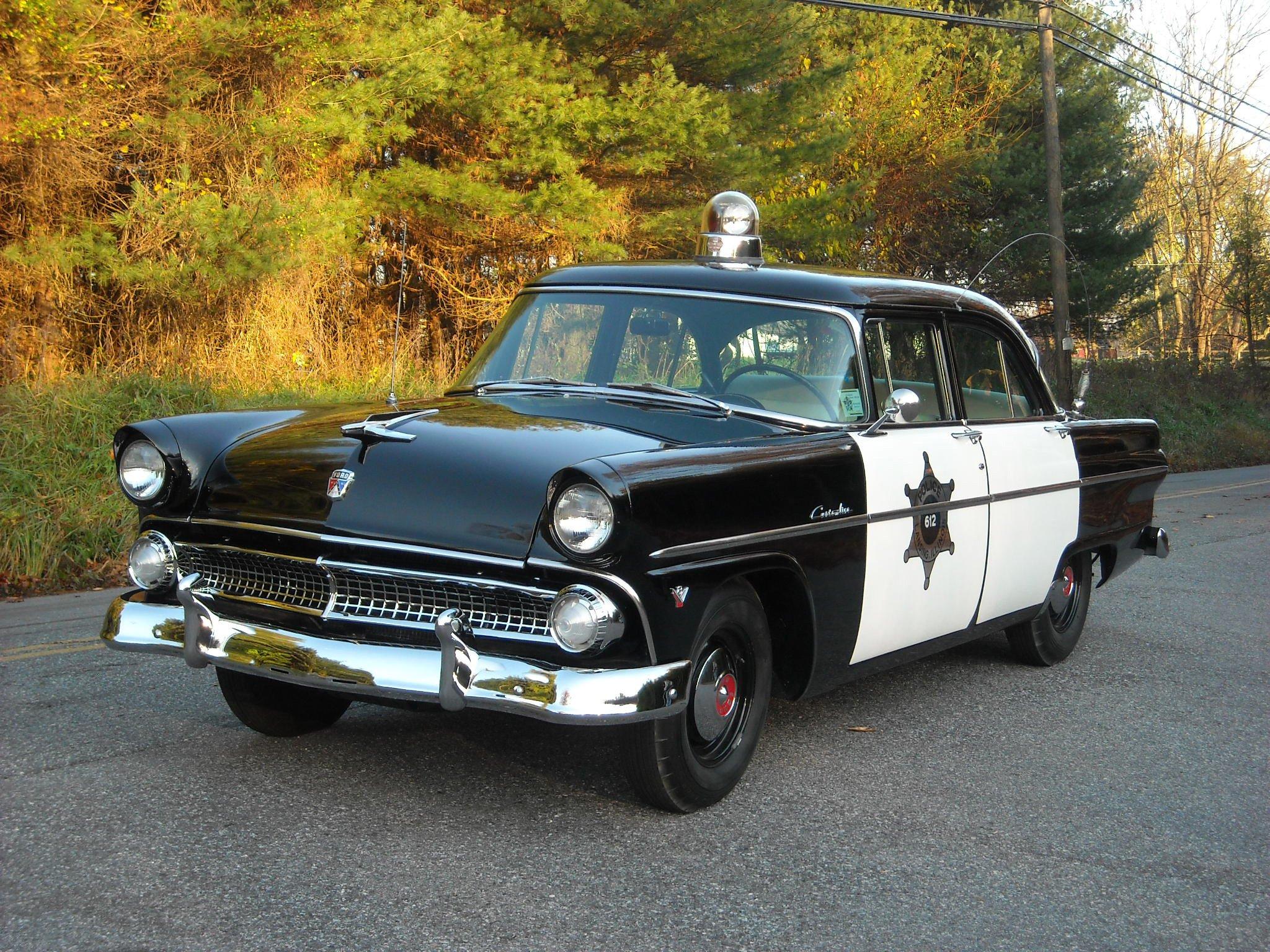 1955 ford customline 4 door sedan police 73b emergency for 1955 ford customline 2 door