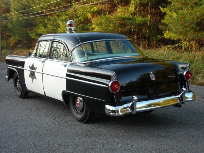 1955 Ford Customline 4-door Sedan Police (73B) emergency retro f wallpaper