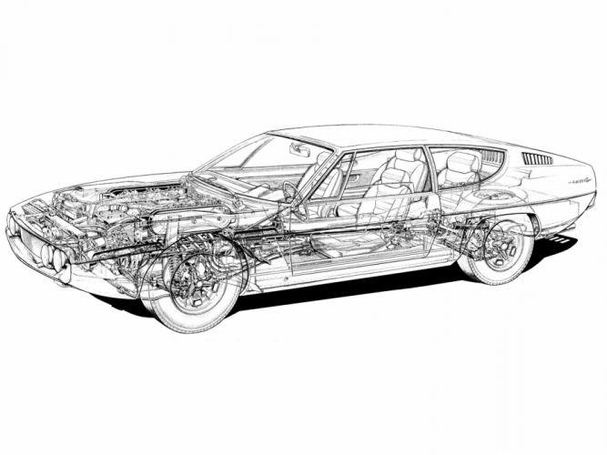 1968 Lamborghini Espada 400 G-T supercar interior engine g wallpaper