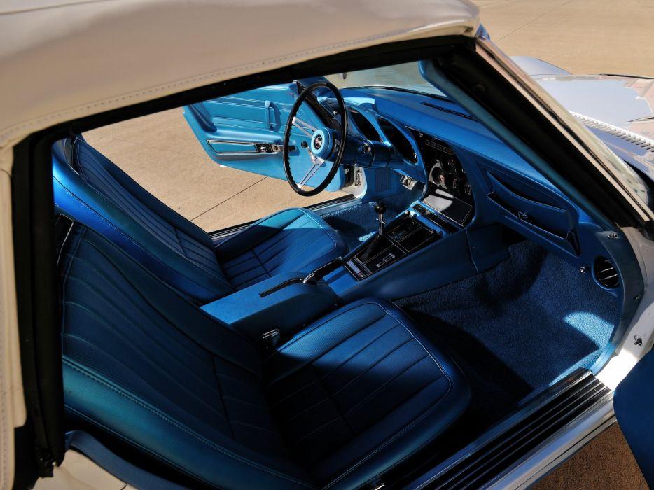 1970 Chevrolet Corvette ZR-1 Convertible (DA3) muscle supercar classic interior h wallpaper
