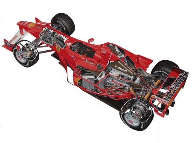 2000 Ferrari F1-2000 (651) f-1 formula race racing interior engine f wallpaper
