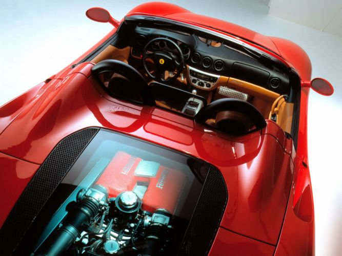 2000-05 Ferrari 360 Spider supercar interior engine g wallpaper