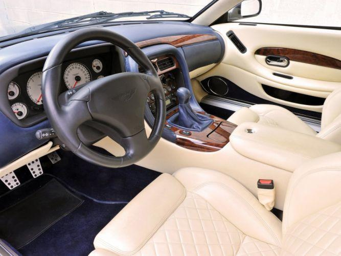 2003 Aston Martin DB7 Zagato supercar interior f wallpaper
