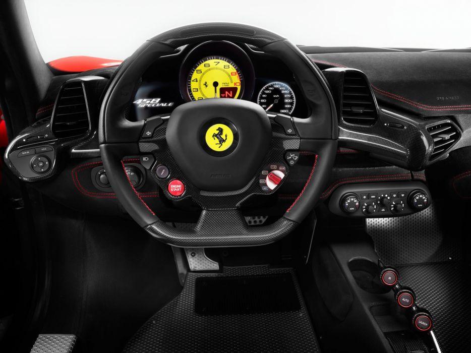 2013 Ferrari 458 Speciale supercar interior f wallpaper