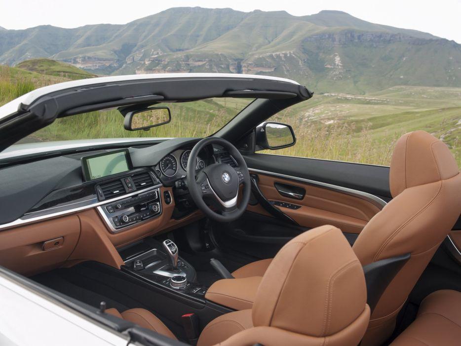 2014 BMW 428i Cabrio Luxury Line ZA-spec (F33) convertible interior   g wallpaper