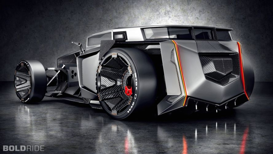 2015 Lamborghini Rat Rod Concept hor rods muscle supercar (1) wallpaper