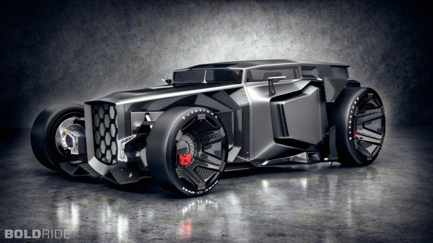 2015 Lamborghini Rat Rod Concept hor rods muscle supercar (2) wallpaper