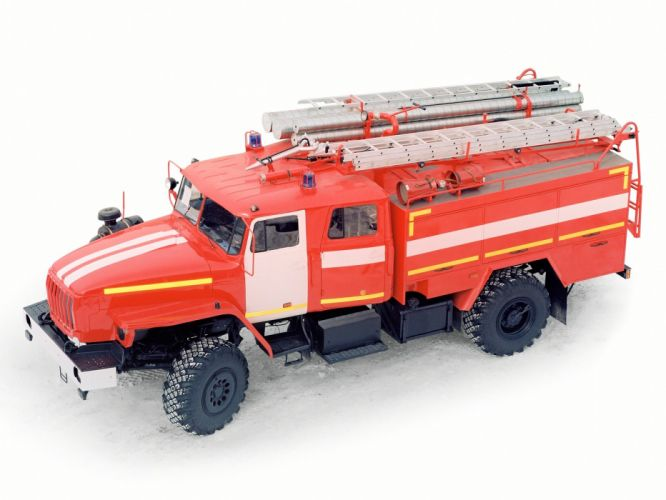AC-3 0-40 Ural 43206 firetruck 4x4 semi tractor emergency f wallpaper