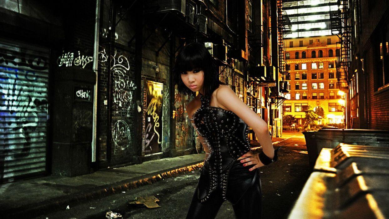 models Asians bangs wallpaper