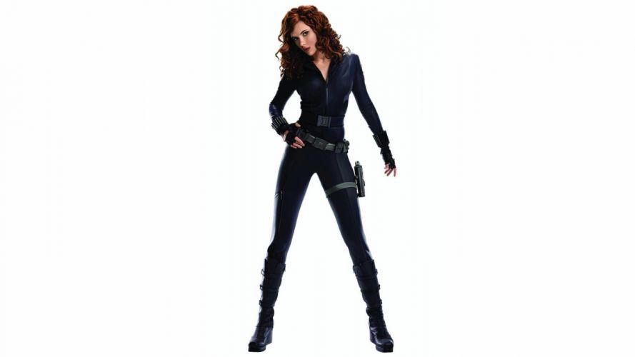 women Scarlett Johansson actress redheads Black Widow curly hair Iron Man 2 wallpaper
