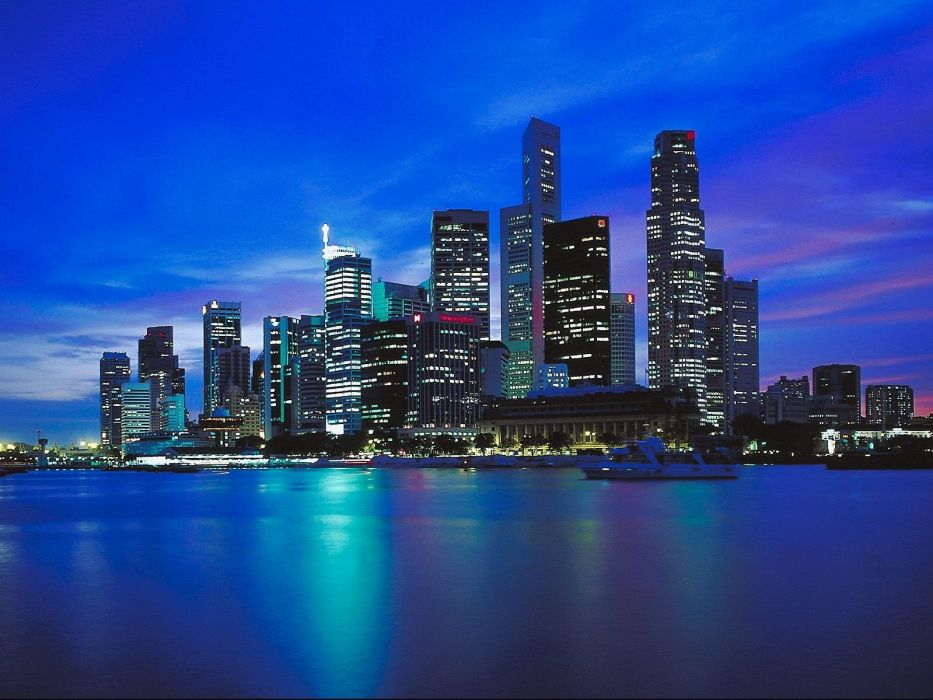 cityscapes skylines buildings city lights wallpaper