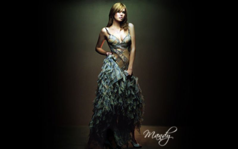 brunettes women Mandy Moore cleavage singers wallpaper