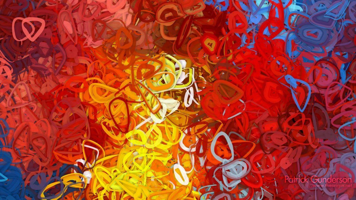 abstract multicolor illustrations artwork bright generative art Patrick Gunderson wallpaper