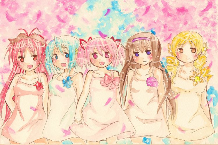 Mahou Shoujo Madoka Magica anime girls wallpaper