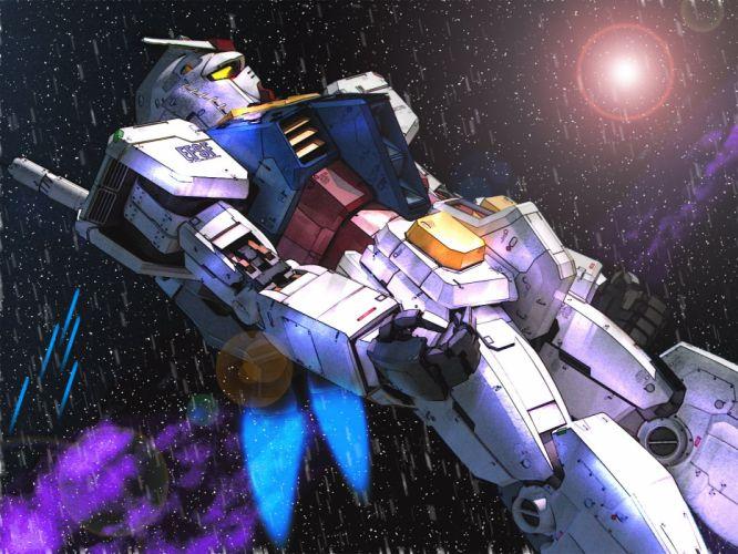 outer space Gundam wallpaper