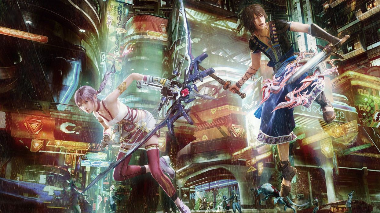 video games rain Final Fantasy XIII Serah Farron wallpaper