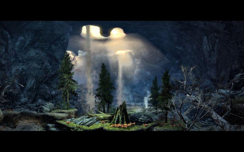 caves The Elder Scrolls V: Skyrim wallpaper