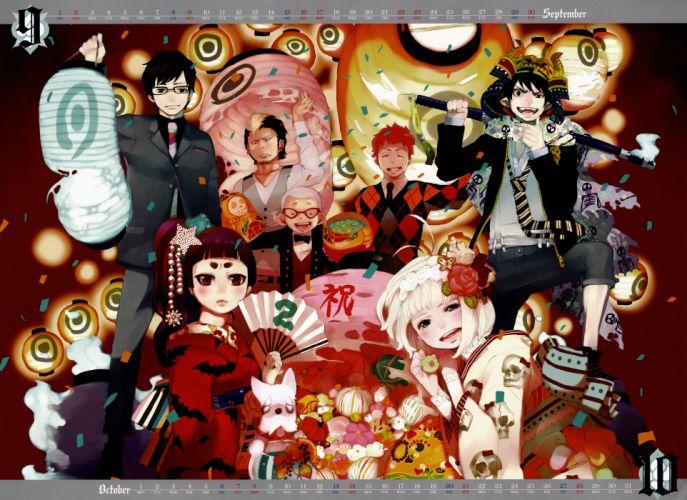 anime anime boys Ao no Exorcist Okumura Rin Mephisto Pheles Okumura Yukio Shiemi Moriyama Ryuji Suguro Konekomaru Miwa Renzo Shima anime girls Kamiki Izumo wallpaper
