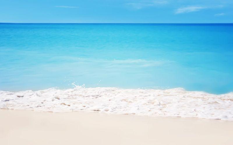 water sand paradise beaches wallpaper