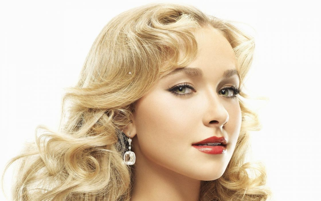 blondes women close-up eyes actress Hayden Panettiere long hair smiling faces wallpaper