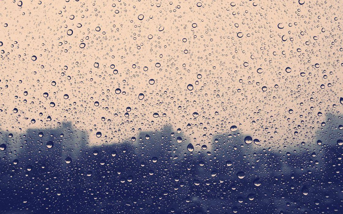 raindrops drops wallpaper