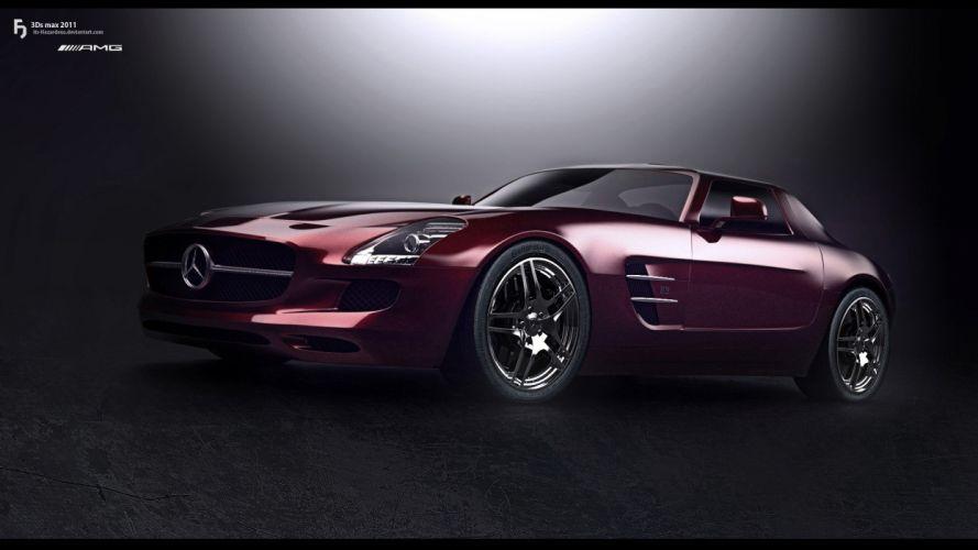 cars studio vehicles transportation tuning wheels SLS AMG automobiles wallpaper