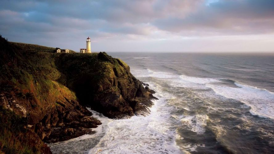 head north lighthouses capes parks Washington wallpaper