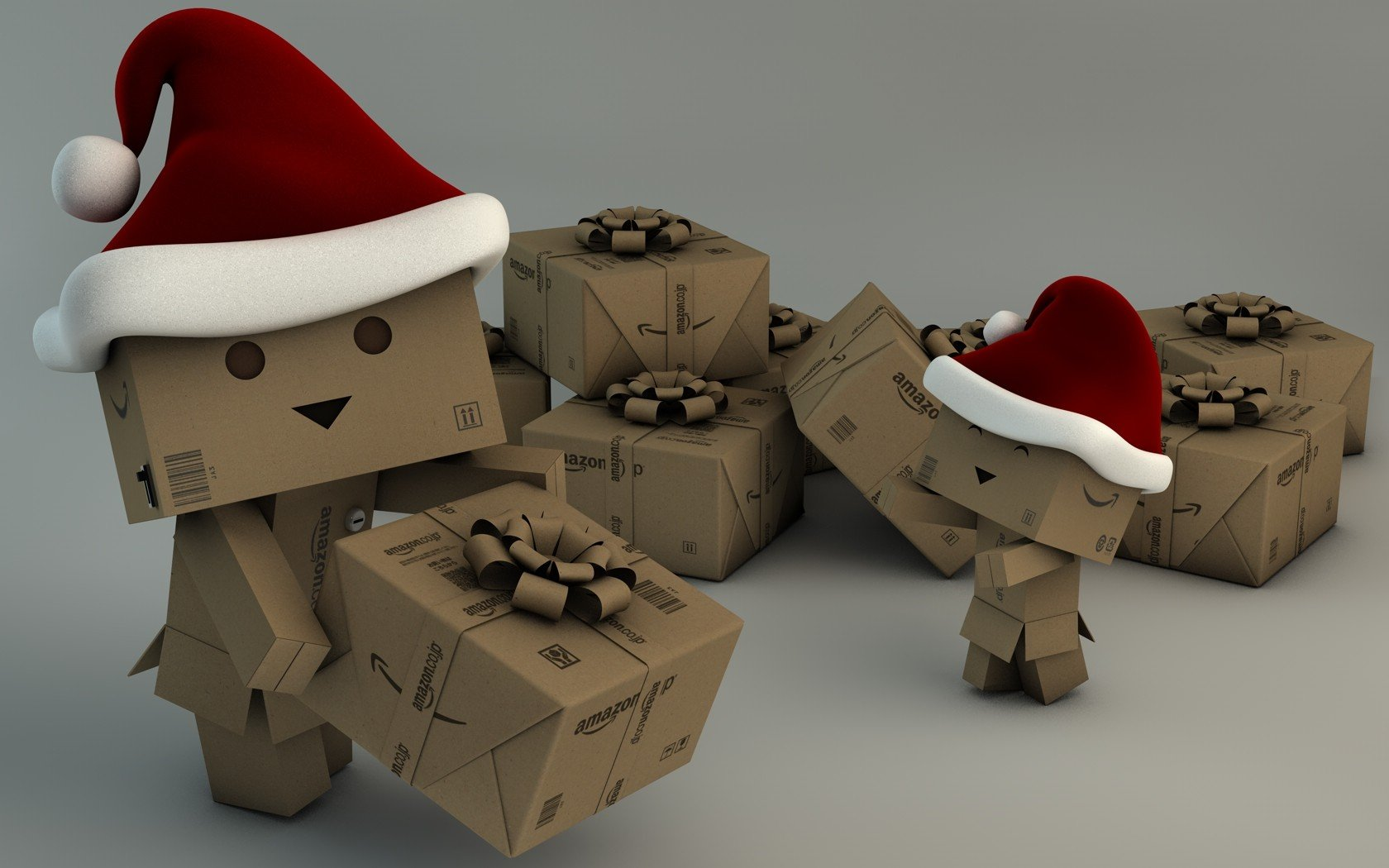 christmas danboard amazon hats santa grey background santa hat wallpaper 1680x1050 321297 wallpaperup - Amazon Christmas