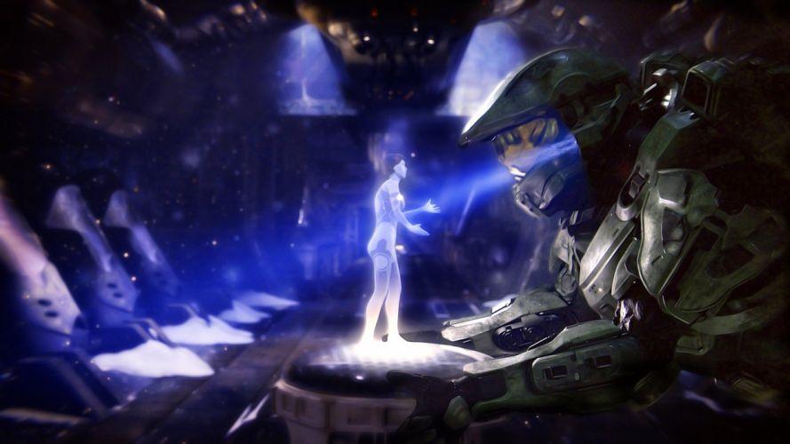 Cortana Master Chief Halo 4 wallpaper
