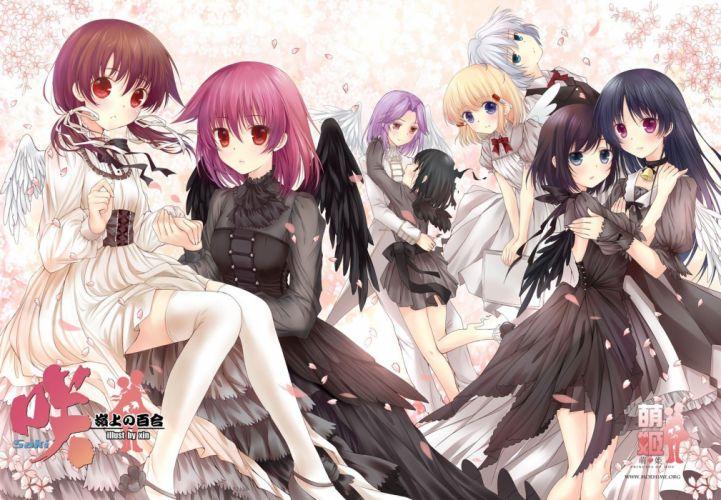 wings dress thigh highs Saki lolita fashion Miyanaga Saki anime girls Onjouji Toki Miyanaga Teru Xin Touyoko Momoko wallpaper