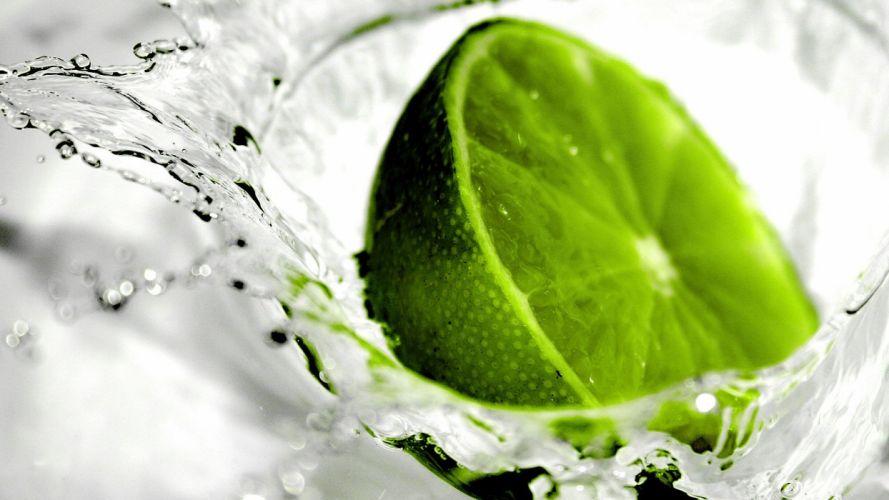 green water fruits limes wallpaper