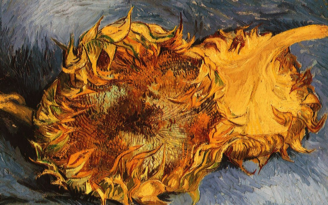 paintings Vincent Van Gogh artwork sunflowers wallpaper