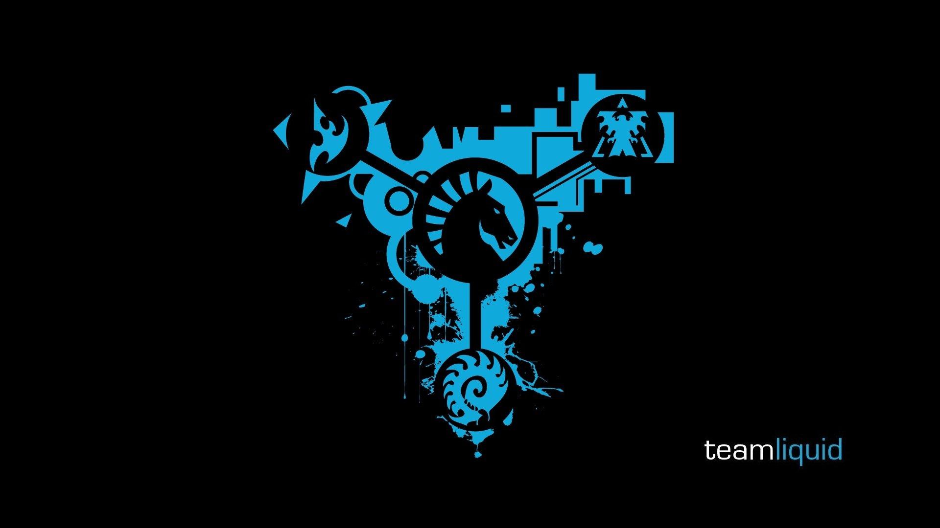 Logos Team Liquid StarCraft II Black Background Wallpaper