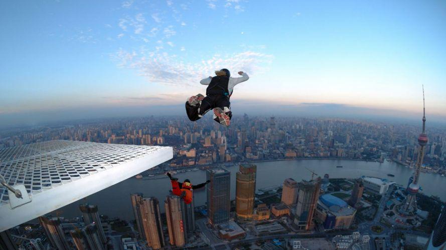 sports skydiving BASE Jumping wallpaper