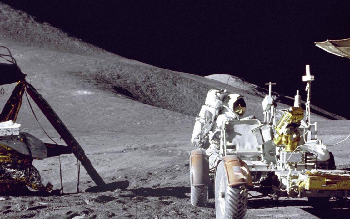 Moon astronauts moonwalk wallpaper