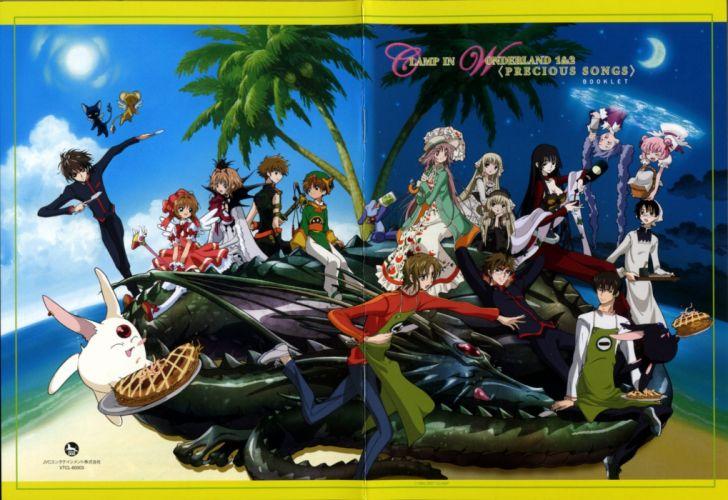 clamps Chobits Tsubasa Reservoir Chronicle Mokona crossovers wallpaper