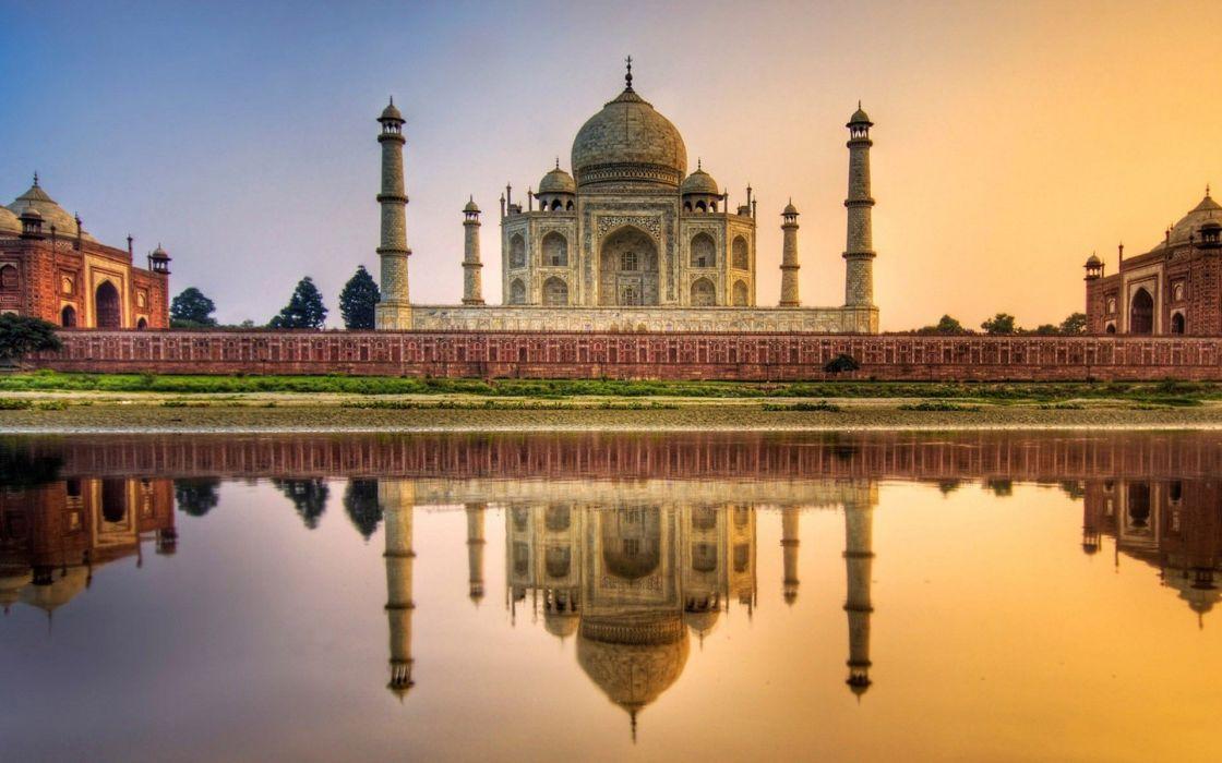 landscapes Taj Mahal cities wallpaper