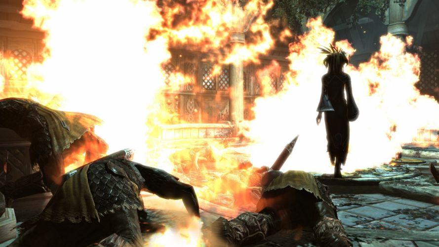 fire The Elder Scrolls V: Skyrim wallpaper
