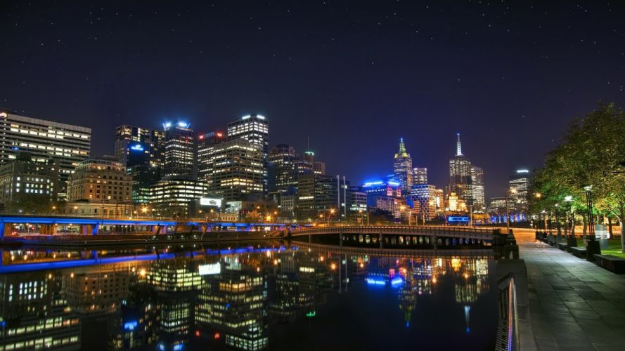 water cityscapes stars architecture towns skyscrapers cities wallpaper