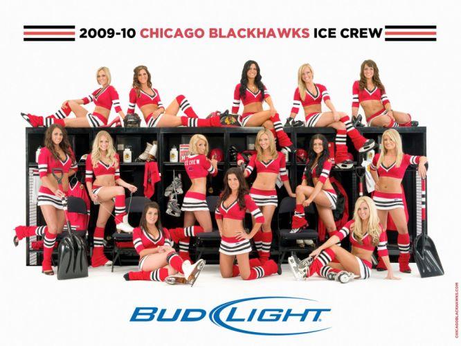 CHICAGO BLACKHAWKS nhl hockey cheerleader wallpaper